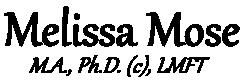 Melissa Mose, LMFT